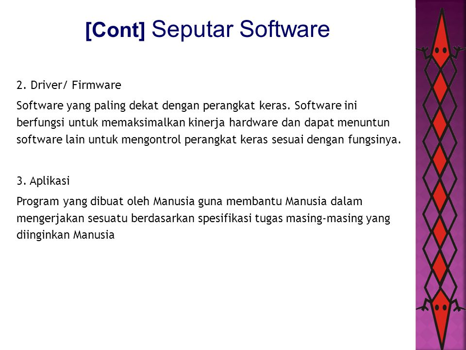 [Cont] Seputar Software